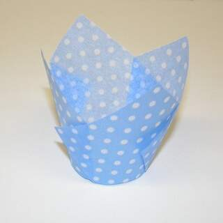 #TULIP CUP - LIGHT BLUE POLKA DOT