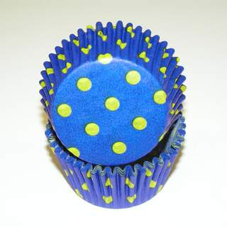#450C HD BLUE W/YELLOW DOTS