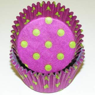 #450C HD PURPLE W/LIME DOTS