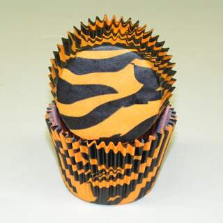 #450C ZEBRA BLACK W/ ORANGE