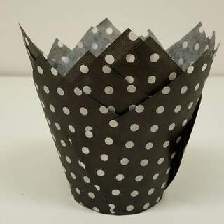 #TULIP CUP - BLACK POLKA DOT