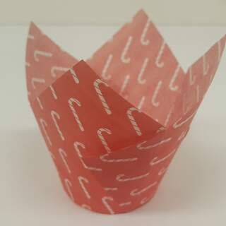 #TULIP CUP - RED CANDY CANE