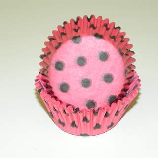 #450C HD HOT PINK W/ BROWN DOTS
