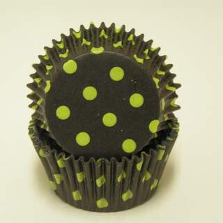 #450C HD BLACK W/ LIME DOTS