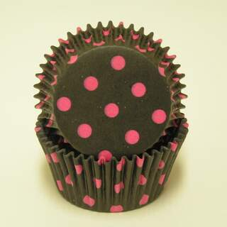 #450C HD BLACK W/ HOT PINK DOTS