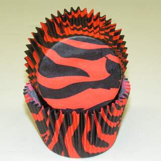 #450C ZEBRA BLACK W/ RED