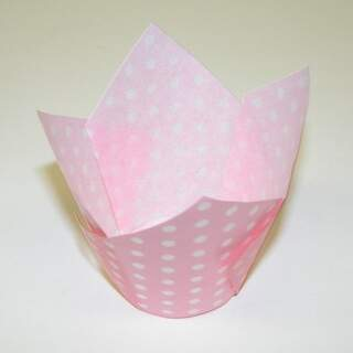 #TULIP CUP - LIGHT PINK POLKA DOT